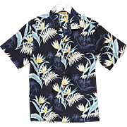 Vintage Cotton Aloha Hawaiian s/s Shirt with Invisible Pocket Size Medium Md