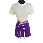 1960s Culotte Hot Pant Jumpsuit Medium Unworn Vintage Fun