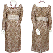 Early 1960S Cocktail Wiggle Dress Unworn Chantilly Lace Size Small - Medium