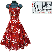 Iconic 1950s Alfred Shaheen Halter Sun Dress Extra Small