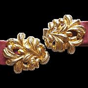 Mimi Di N Vintage Belt Buckle Golden Plumes