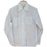 1950s Men's  Shirt Crisp See Through Nylon Size Small Unworn Mint