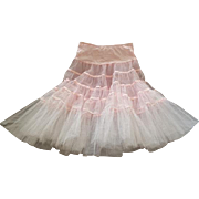 1960s Tulle Net Can Can Under Slip Pretty Pink for Dancing and Romancing Size Medium