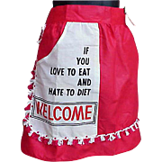 1950s Half Body Apron For a Good Cook mint with Original Tags