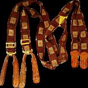 Men's Vintage Suspenders 1940s Elastic Braces
