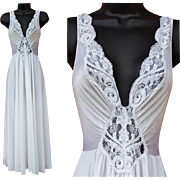 Vintage Olga Nightgown Wedding White Size Small USA