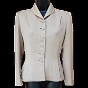 1940s Gabardine Jacket in size Medium Wasp Waist Silhouette