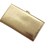 1960s Gold Lame' Cocktail Wallet Multiple Compartments Baronet Fifth Avenue