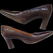 Vintage High Heel Shoes Ralph Lauren 8-1/2 B Spain All Leather