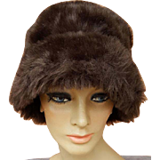 Faux Fur Bucket Hat Faux Suede Lining Soft Sides Medium - Large