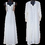 Vintage Nightgown and Peignoir Wedding White 1X Plus Size