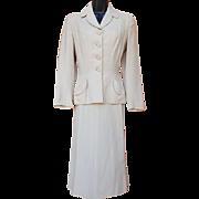 1940s Women;s Suit Classic Palm Beach Linen Size Small Bust 34