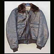Vintage USA Men's Jacket COOPER G-1 Leather FLIGHT Motorcycle Bomber BIKER