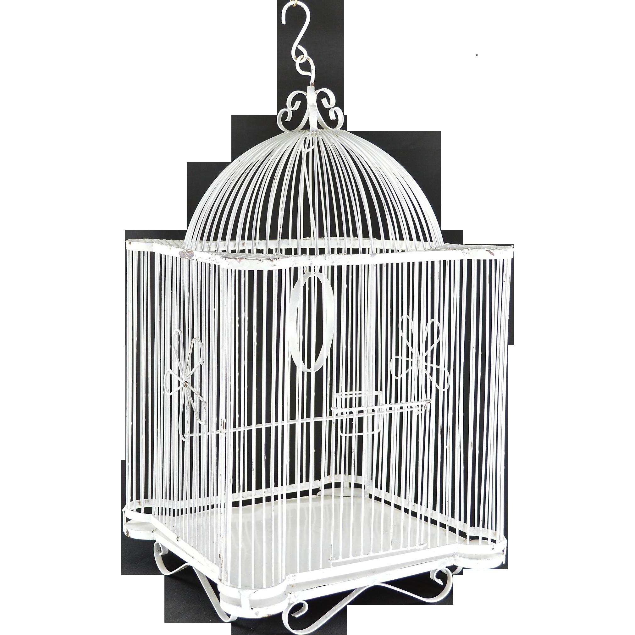Vintage Iron Bird Cage