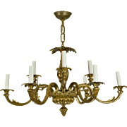 Vintage Brass French Baroque Chandelier