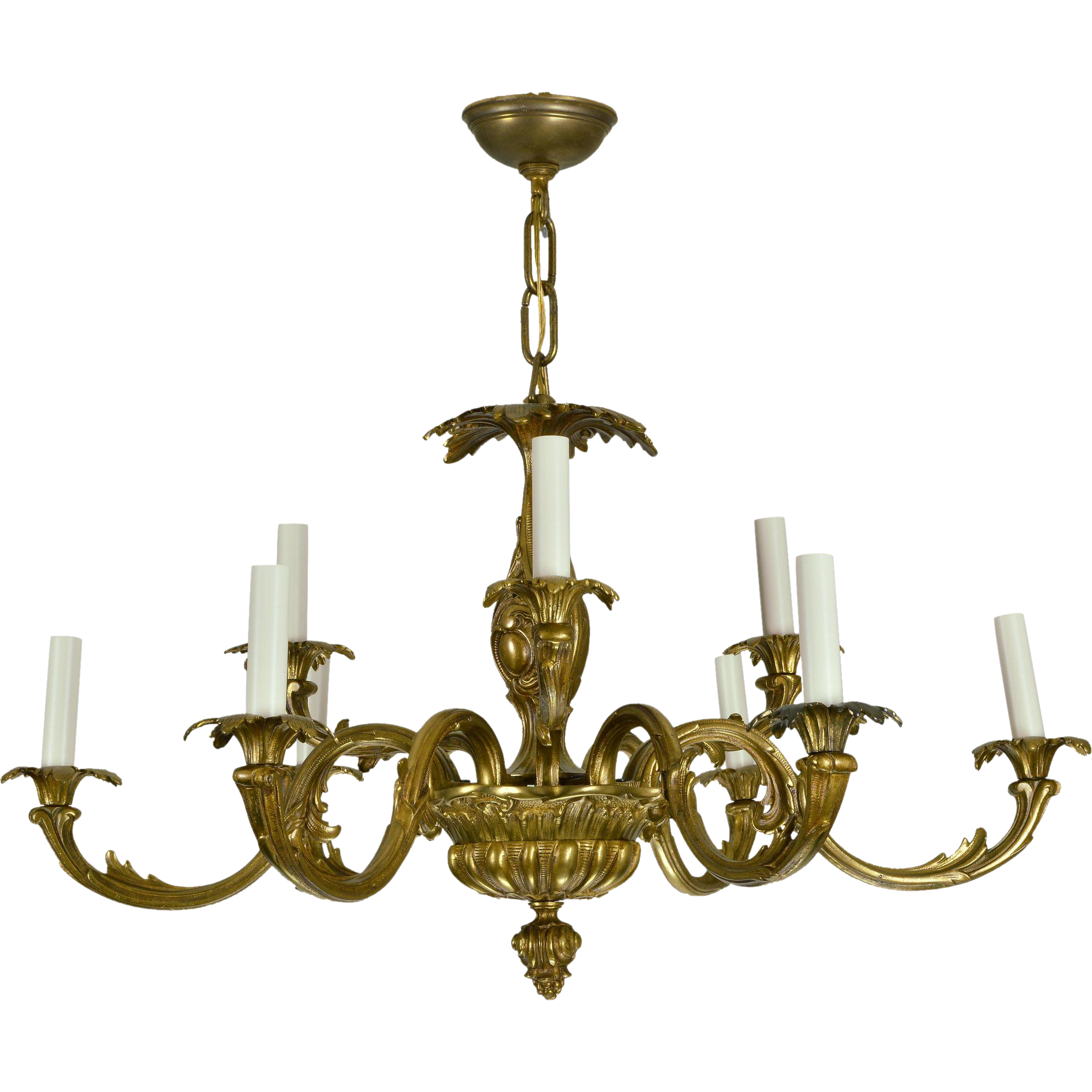 Vintage brass french baroque chandelier the old light warehouse vintage brass french baroque chandelier the old light warehouse ruby lane aloadofball Images