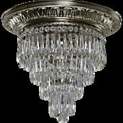 Vintage Tiered Wedding Cake Chandelier - Silver Plated Brass