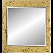 Vintage La Barge / LaBarge églomisé Beveled Mirror - Artist Signed - K Widing 1985