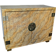 Vintage Henredon Cabinet - Faux Tortoiseshell