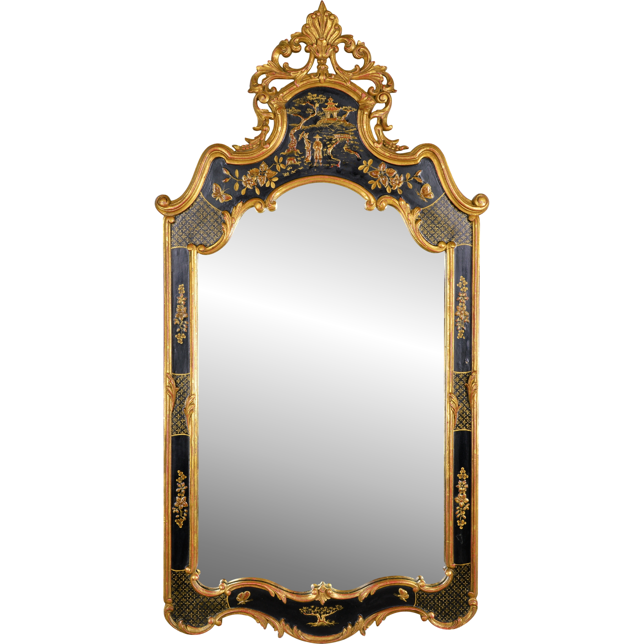 Vintage mirror fair chinoiserie mirror from tolw on ruby lane for Where to find mirrors
