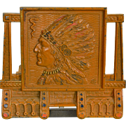 Vintage Native American Indian Bookrack Adjustable - Expandable Bookends