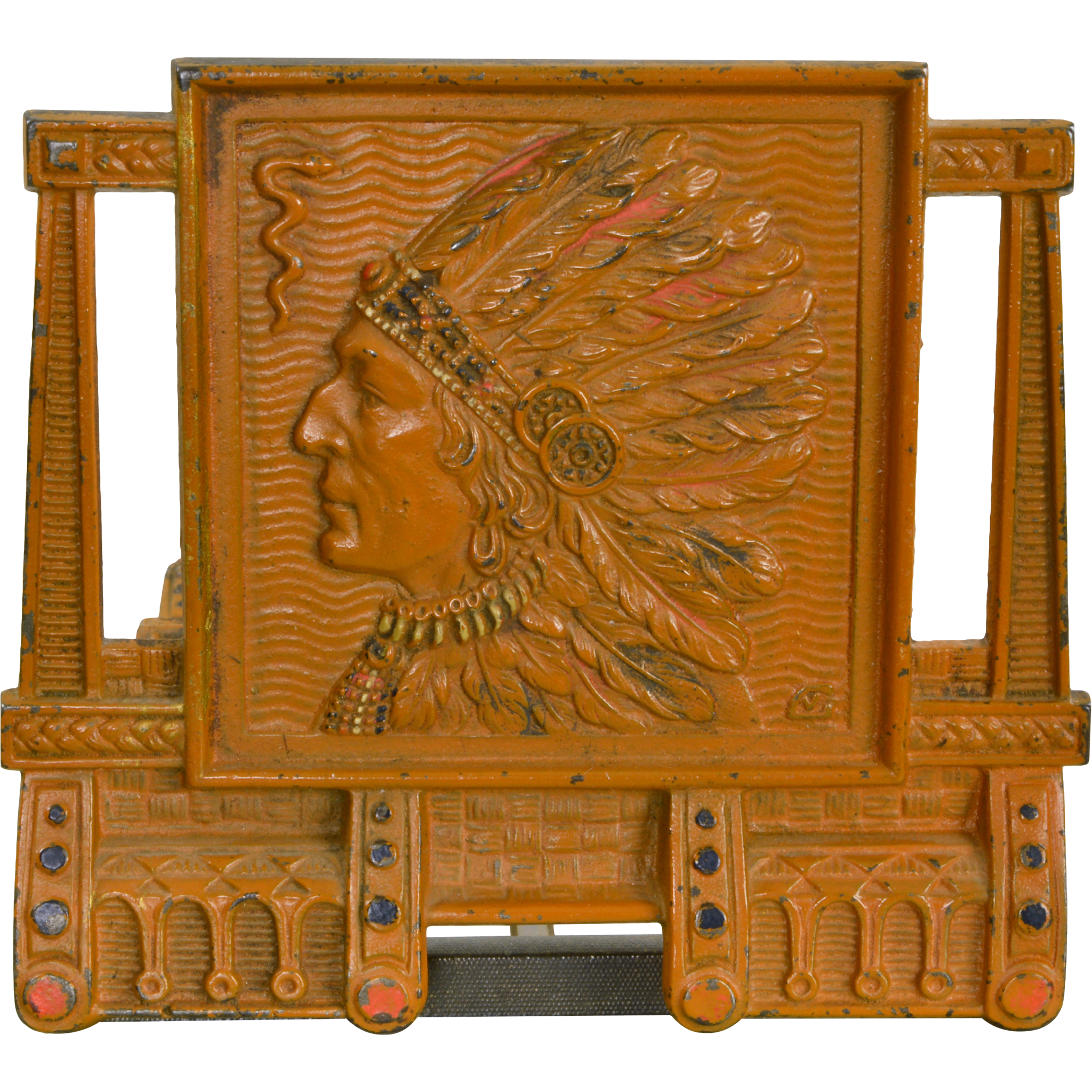 Vintage Native American Indian Bookrack Adjustable