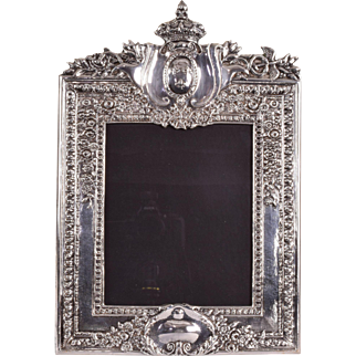 Silverplate Picture Frame - Royal Order of the Holy Cross - Caduceus - by E.G. Webster & Son 1920s