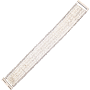 Sterling Silver 925 Flexible Bar Bracelet - Chateau d'Argent - Canada
