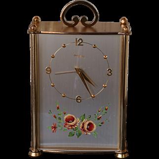 Vintage Imhof 8 Day Clock - Reuge Music Box Alarm plays Le Bleu Danube