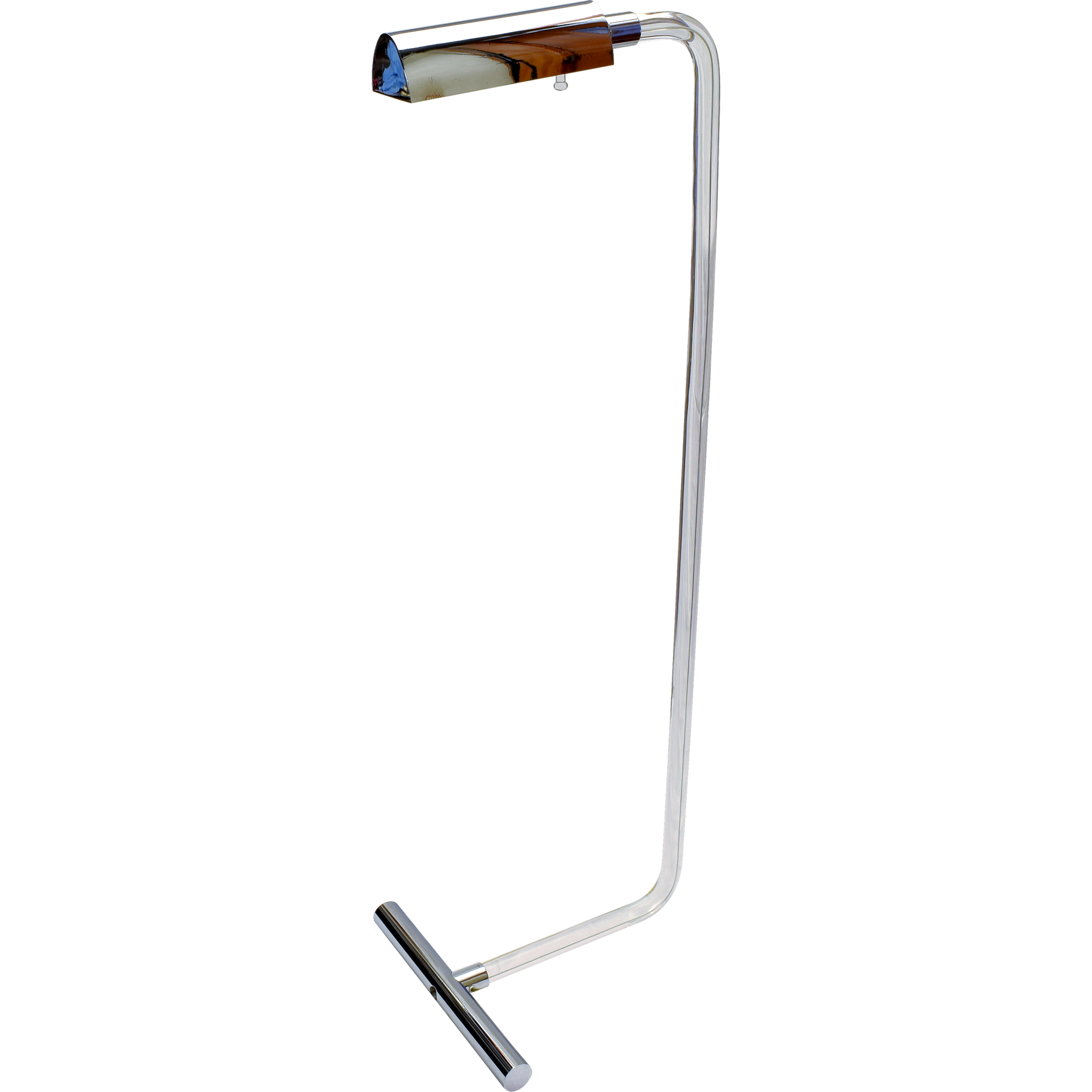Vintage Peter Hamburger Crylicord Lucite Chrome Reading Floor Lamp for George Kovac