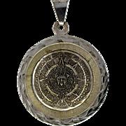 Bernice Goodspeed Sterling Silver 925 Mayan Calendar Pendant