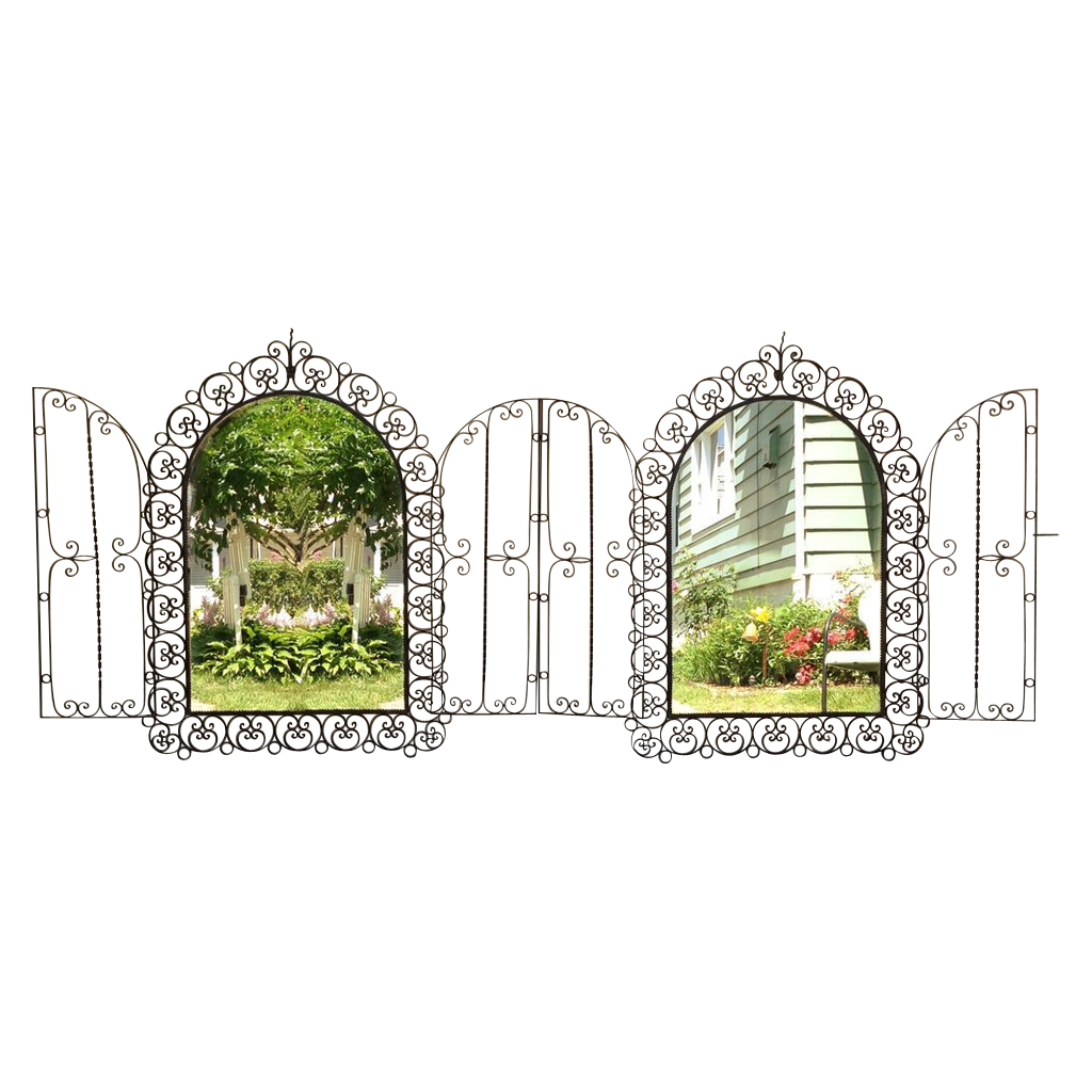 Ornate Pair Spanish Revival Mirrors
