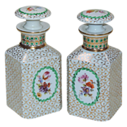 Pair Vintage Porcelain Cologne Bottles - Made in Germany