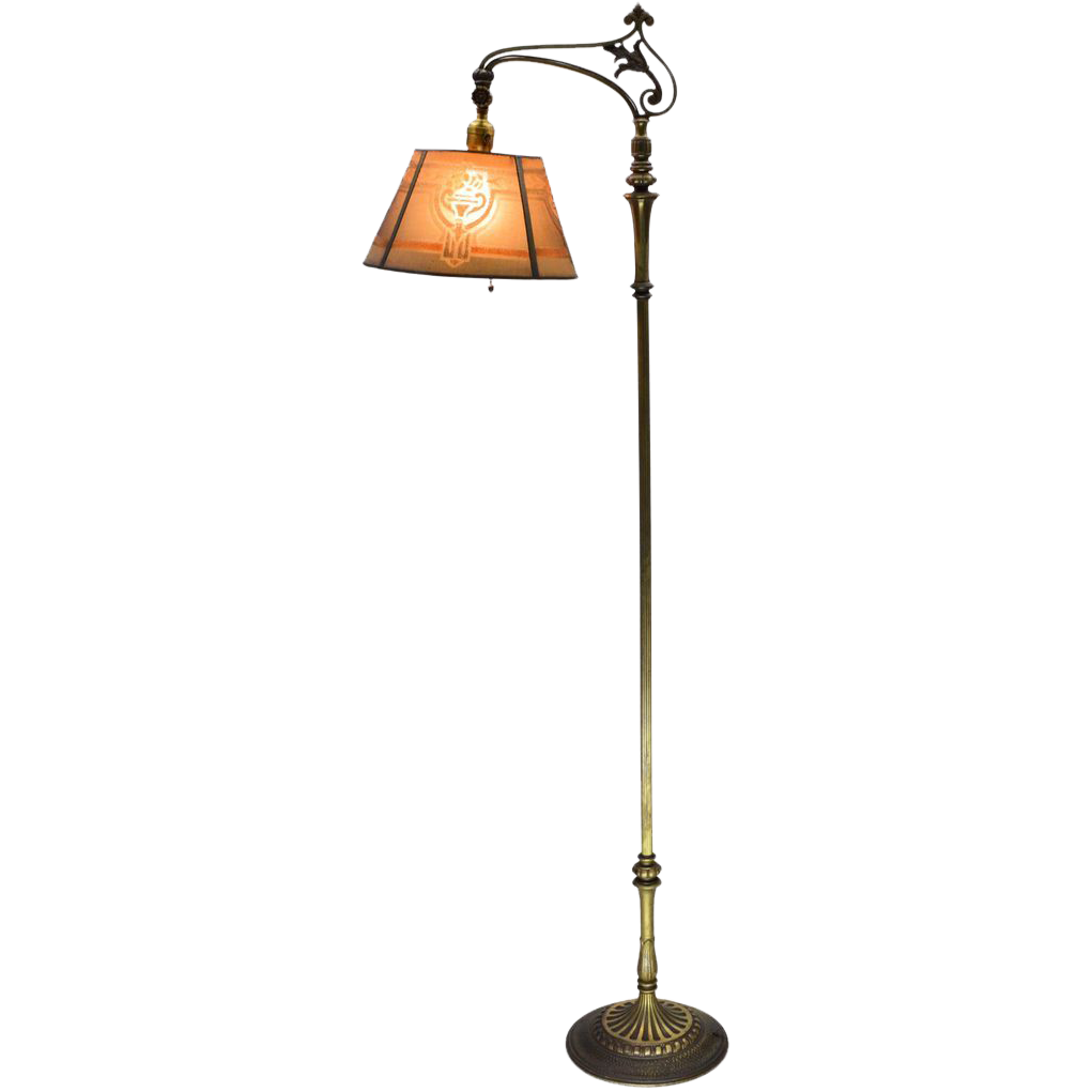 1930s Almco Mslc Floor Lamp Vintage Art Nouveau Sold