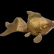 Mid-Century Brass Koi Fish by Rosenthal Netter Brass