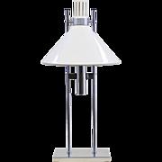 Mid-Century Modern Robert Sonneman Lamp - White/Chrome 1960s
