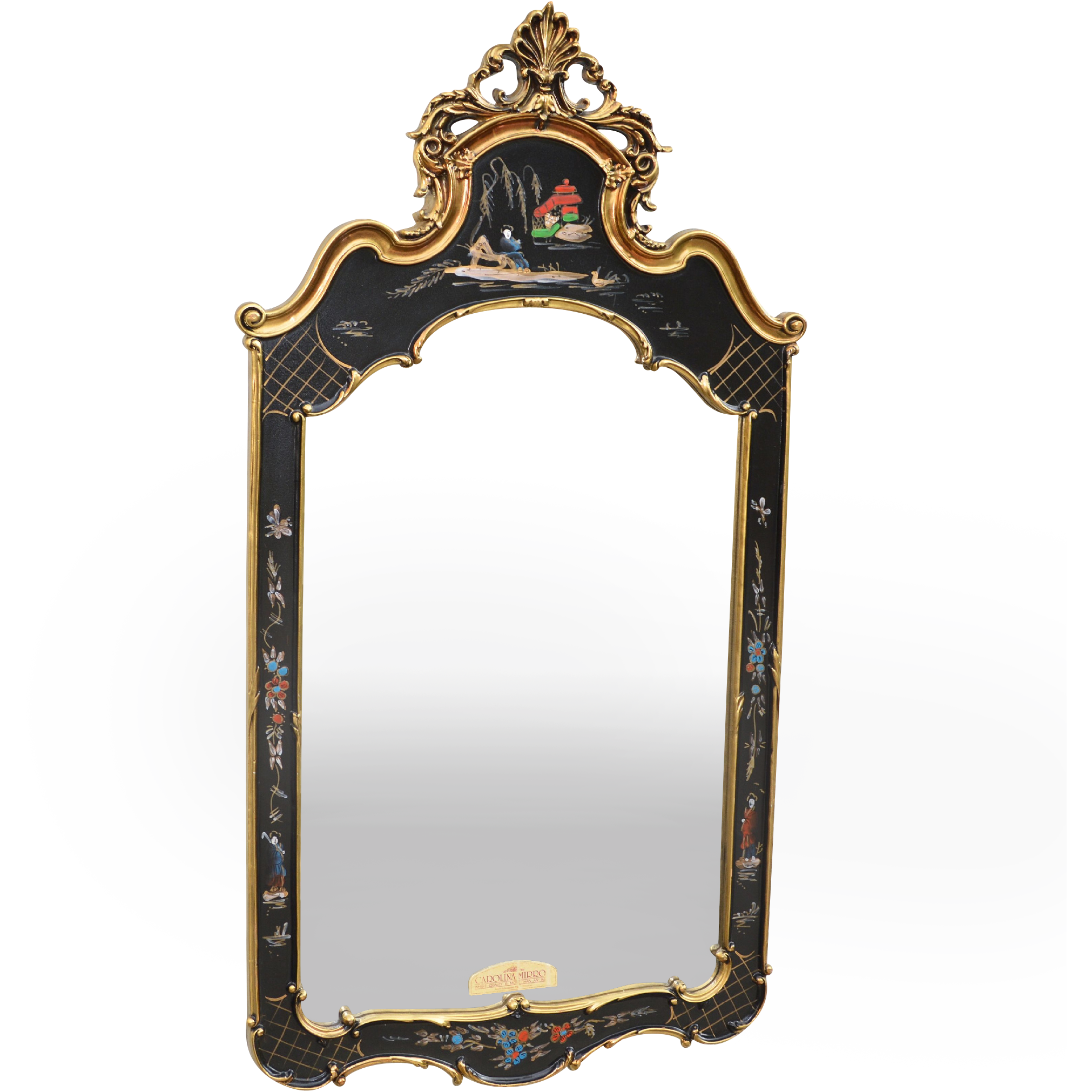 Vintage ornate carolina chinoiserie mirror from tolw on for Mirror o mirror