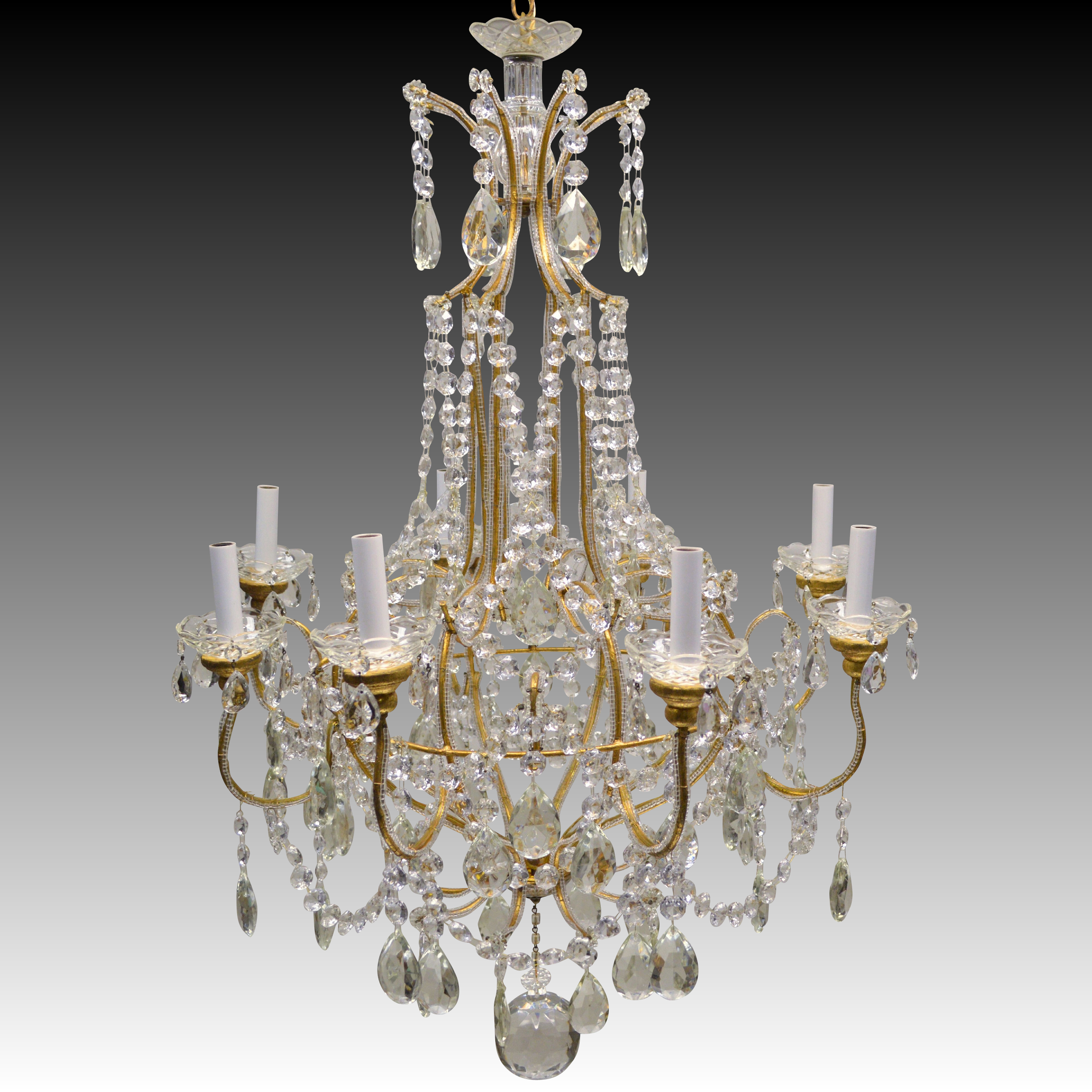 8 Light Crystal Chandelier: Roll over Large image to magnify, click Large image to zoom,Lighting
