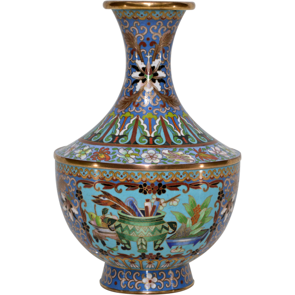 Vintage Maitland Smith Cloisonne Vase From Tolw On Ruby Lane