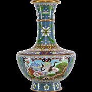 Vintage Chinese Cloisonne Enameled Vase