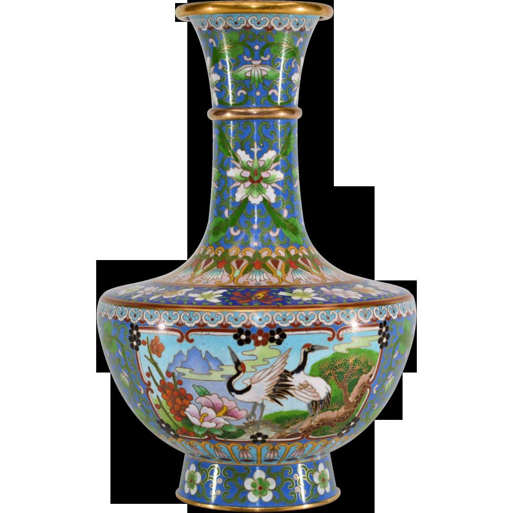 Vintage Chinese Cloisonne Enameled Vase From Tolw On Ruby Lane