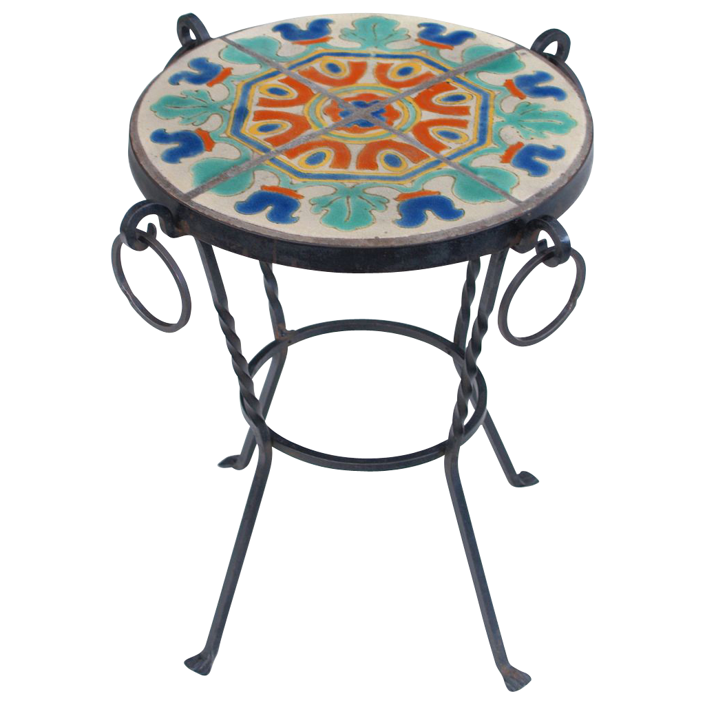 D&M Tile Wrought Iron Table - Spanish Revival