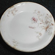 Brown Transferware Butterpat (Butter Chip)