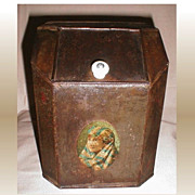 Small Antique Store Display Tea Bin