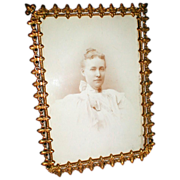 Lovely Antique Brass Photograph Frame