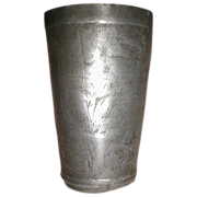 Antique Pewter Beaker Engraved, Leopold Wagner Lisbon