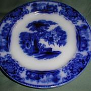 Lovely Flow Blue Plate SHANGHAI W. H. Grindley
