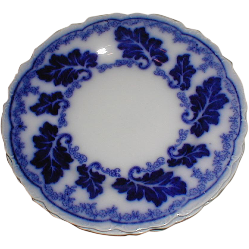 Lovely quot flow blue plate normandy johnson bros england