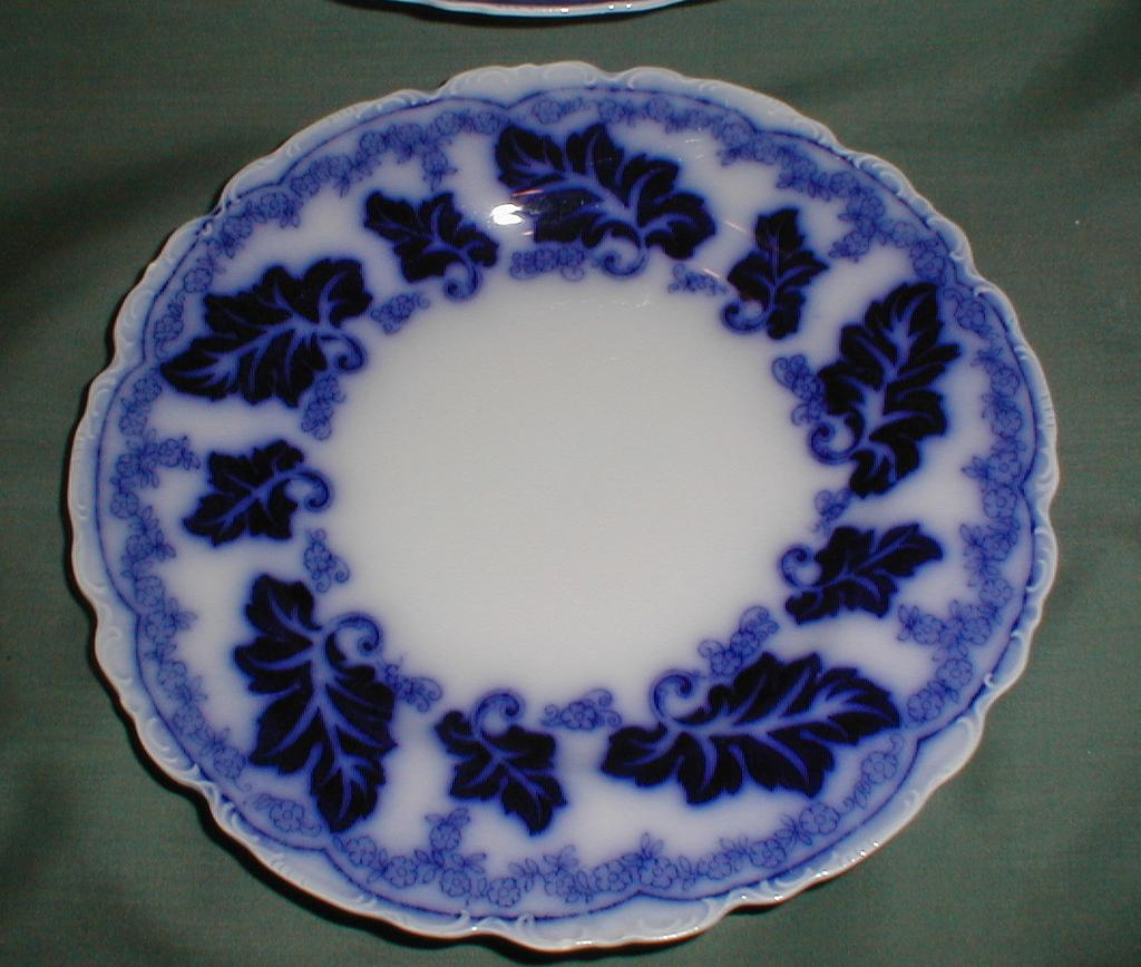 Lovely flow blue quot plate normandy johnson bros avail