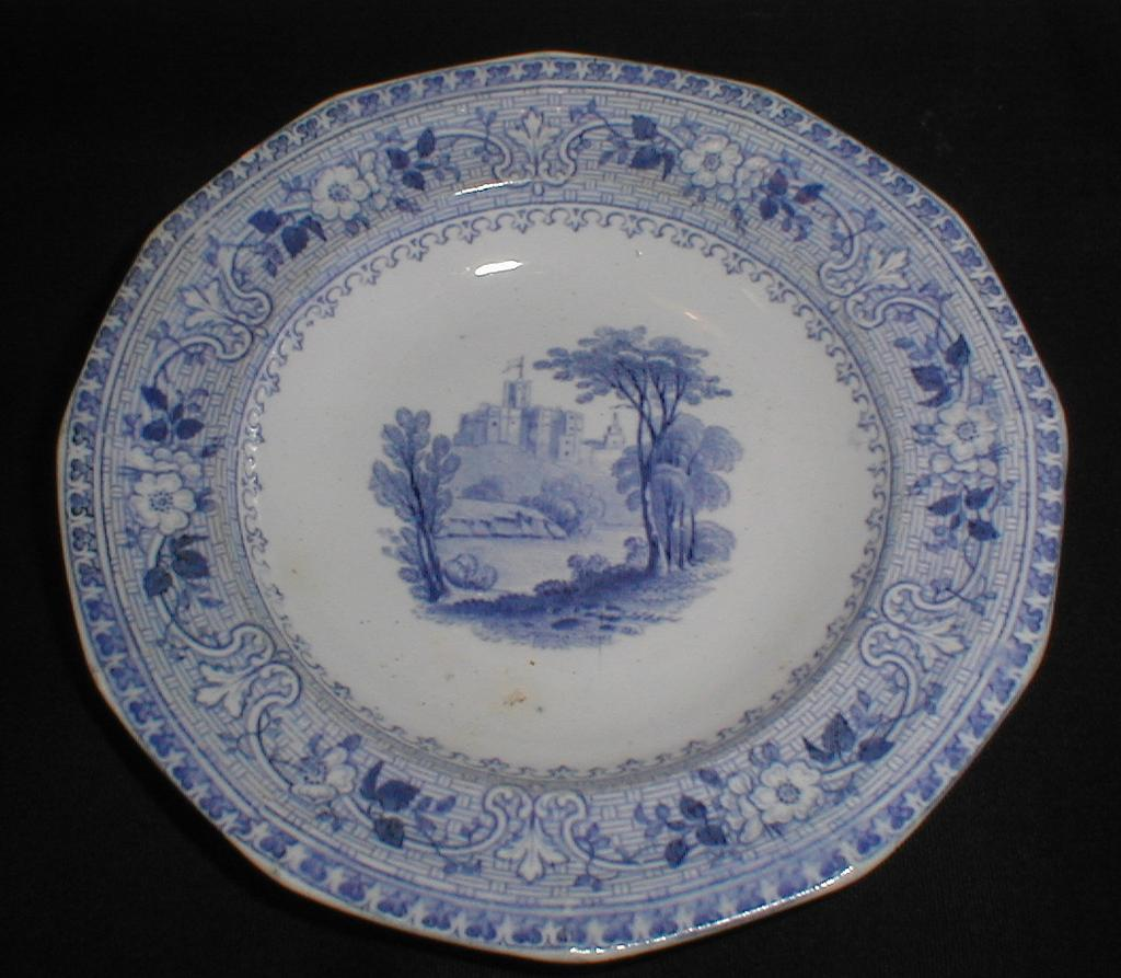 Lovely Blue Transferware Child's Tea Plate